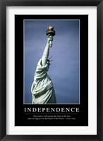 Framed Independence: Inspirational Quote and Motivational Poster