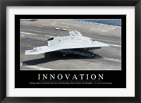 Framed Innovation: Inspirational Quote and Motivational Poster