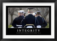 Framed Integrity: Inspirational Quote and Motivational Poster