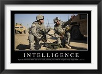 Framed Intelligence: Inspirational Quote and Motivational Poster