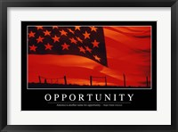 Framed Opportunity: Inspirational Quote and Motivational Poster