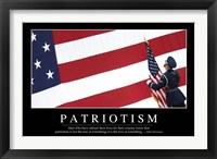 Framed Patriotism: Inspirational Quote and Motivational Poster
