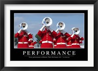 Framed Performance: Inspirational Quote and Motivational Poster