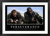 Framed Perseverance: Inspirational Quote and Motivational Poster