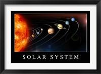Framed Solar System Poster