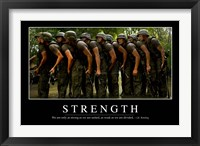 Framed Strength: Inspirational Quote and Motivational Poster