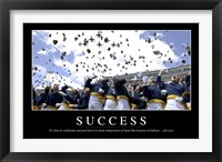 Framed Success: Inspirational Quote and Motivational Poster