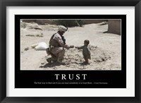 Framed Trust: Inspirational Quote and Motivational Poster