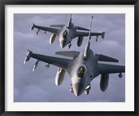 Framed Two F-16 Fighting Falcons