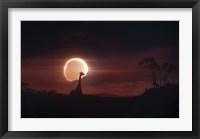 Framed Solar Eclipse over Africa