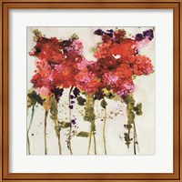 Framed Dandy Flowers II
