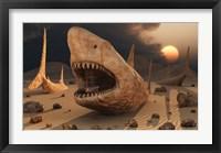 Framed Megalodon Desert