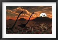 Omeisaurus Dinosaurs Framed Print