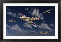 Framed Royal Air Force Supermarine Spitfire