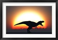 Framed T Rex Silhouett