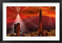 Framed Alien Red Planet