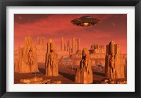 Framed Aliens Leaving Mars