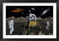 Framed Apollo Astronauts and Alien UFO