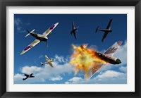 Framed British Supermarine Spitfires