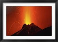 Framed Stromboli Eruption