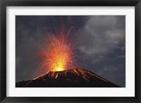 Framed Krakatau Eruption