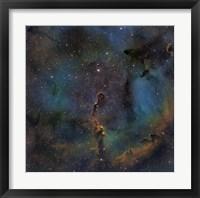 Framed IC 1396, the Elephant Trunk Nebula