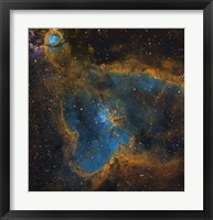 Framed IC 1805, the Heart Nebula