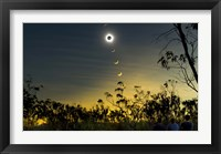 Framed Solar Eclipse Composite