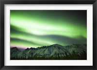 Framed Bright Aurora Borealis over Annie Lake