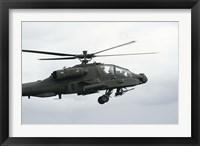 Framed AH-64D Apache