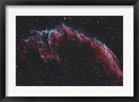 Framed NGC 6992, The Eastern Veil Nebula