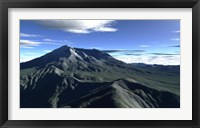 Framed Terragen Render of Mt St Helens