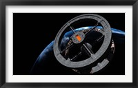 Framed Space Station 5 in Earth Orbit