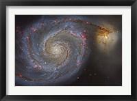 Framed Whirlpool Galaxy