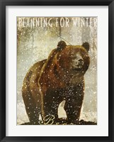 Winter Game Three Framed Print
