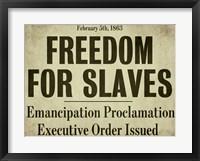 Emancipation Framed Print