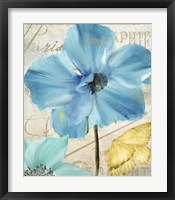 Blue Mountain Poppy Framed Print