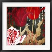 Framed China Red II