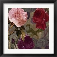 Framed Birds and Roses II