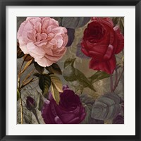 Birds and Roses II Framed Print