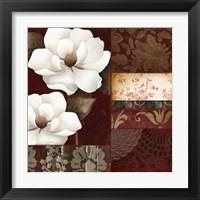 Framed Flores Blancas III