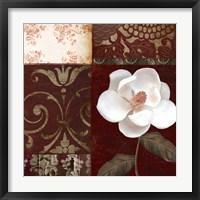 Framed Flores Blancas IV