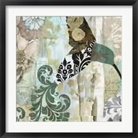 Framed Hummingbird Batik I