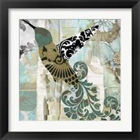 Framed Hummingbird Batik II