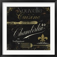 La Cuisine IV Framed Print