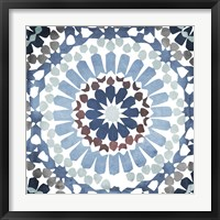 Moroccan Blues IV Framed Print