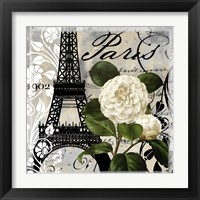 Framed Paris Blanc I