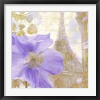Purple Paris II Framed Print