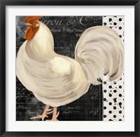 White Rooster Cafe II Framed Print
