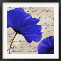 Coquelicots Bleues II Framed Print